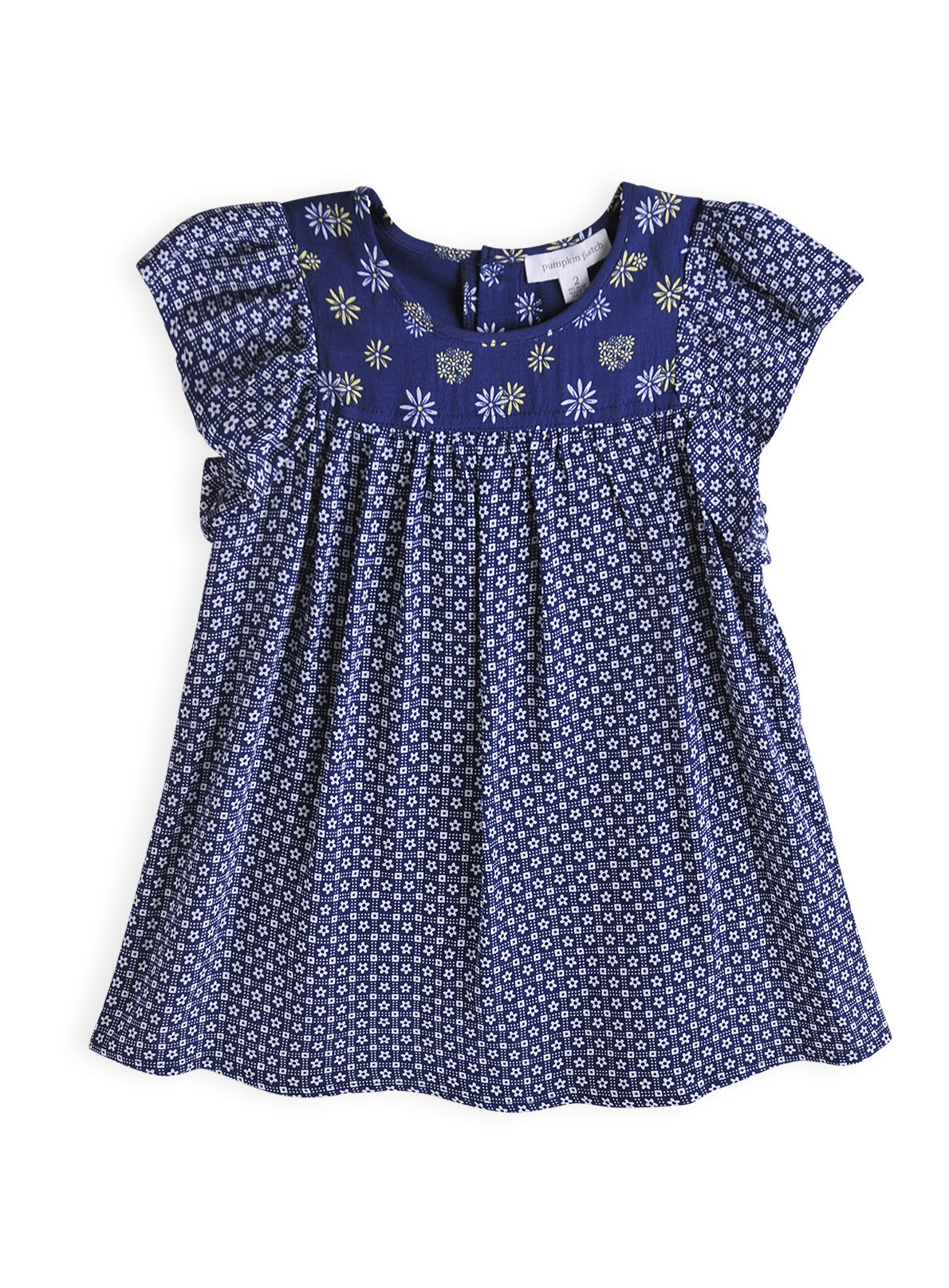 Girls daisy print babydoll dress
