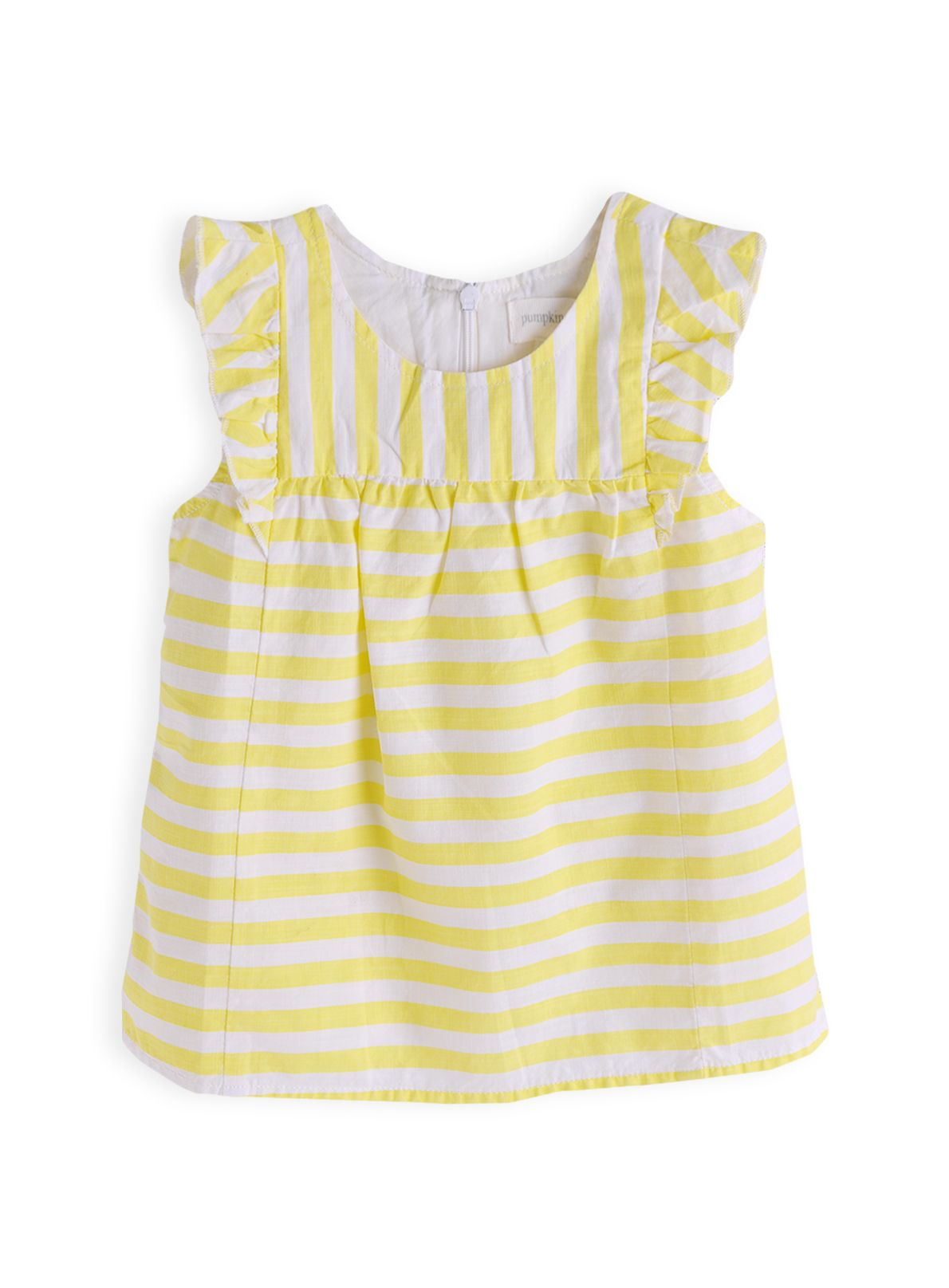 Girls stripe frill babydoll top