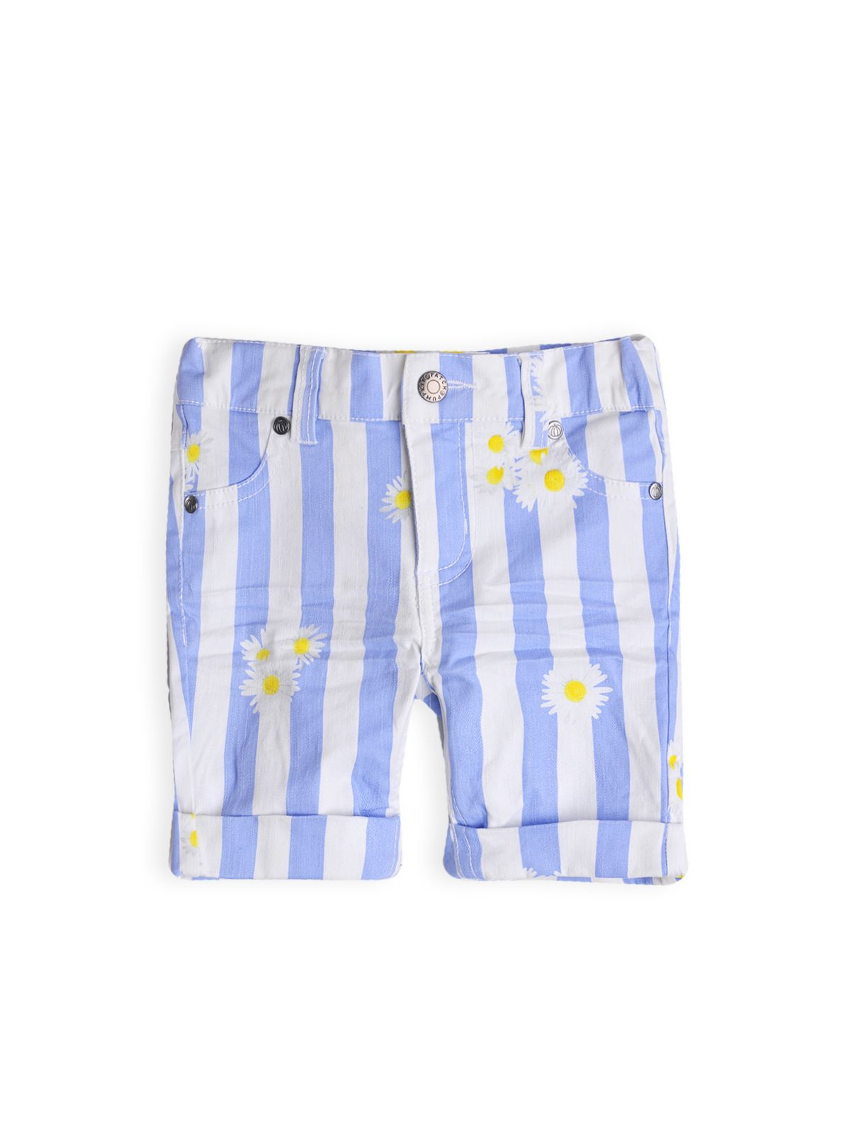 Girls daisy stripe bermuda short