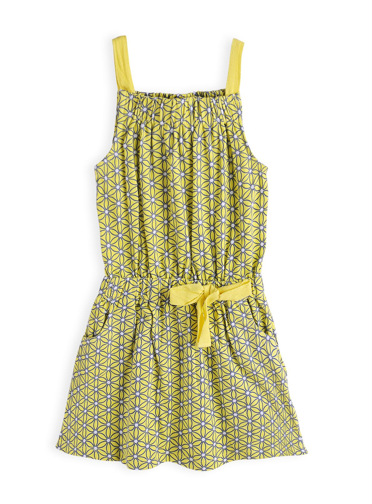 Girls geometric daisy knit dress