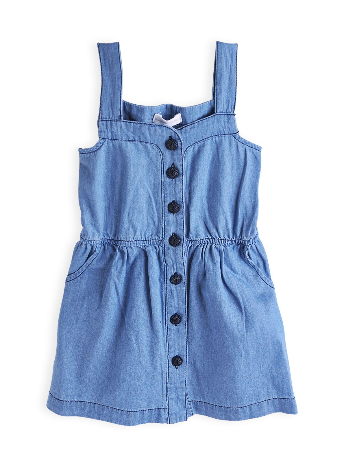 Girls sweetheart chambray dress