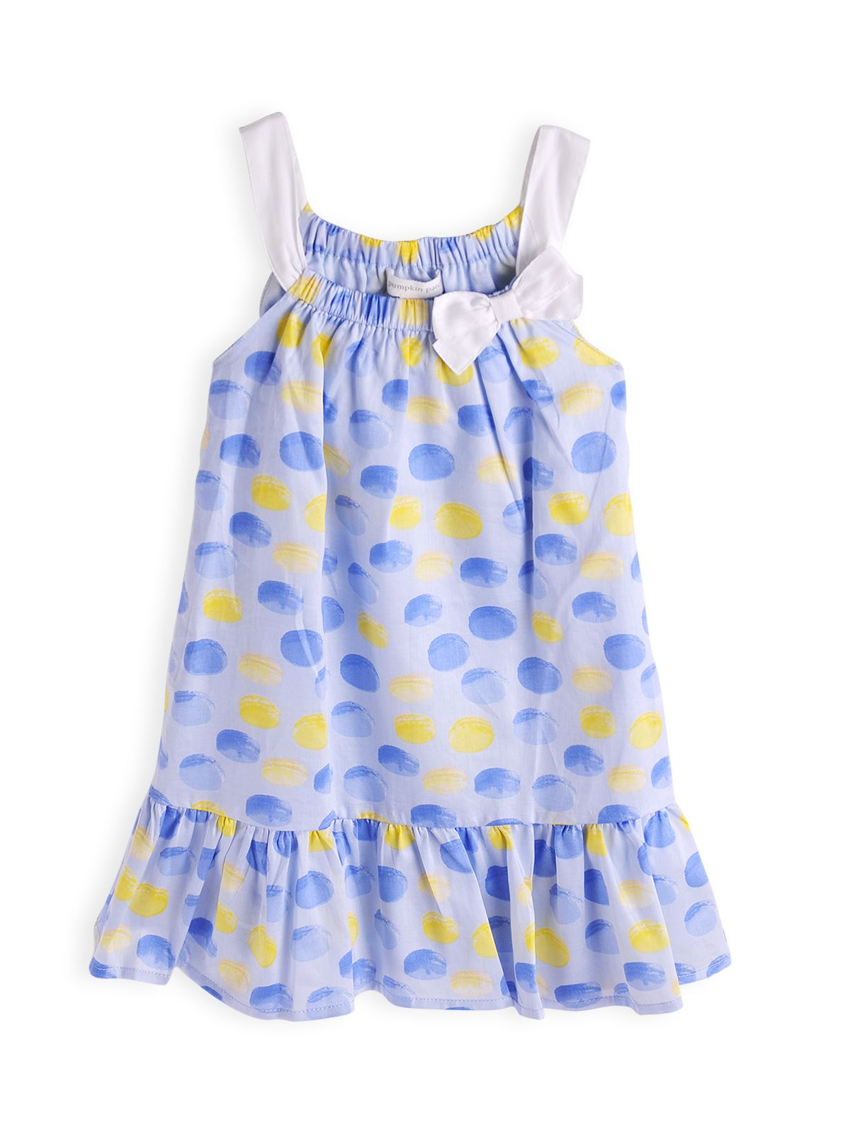 Girls macaroon print dress