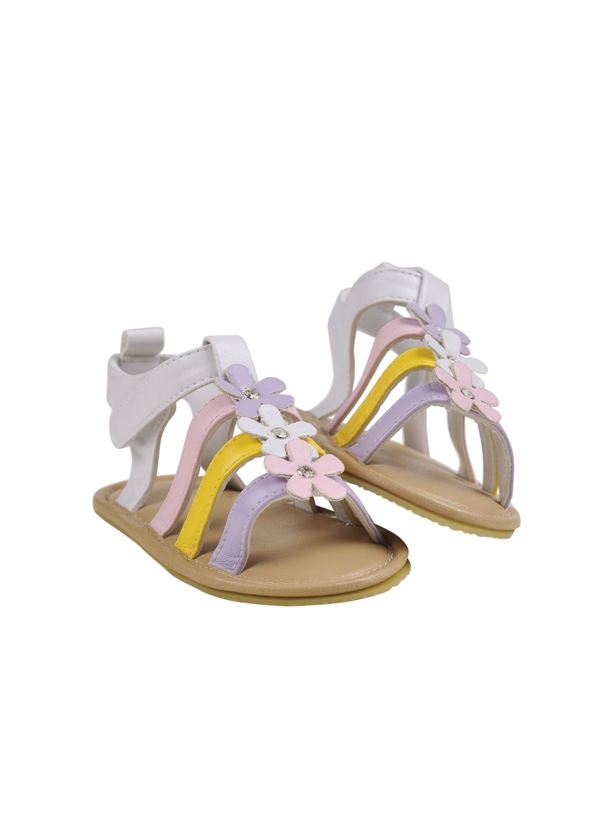 Baby girls pastel flower sandal