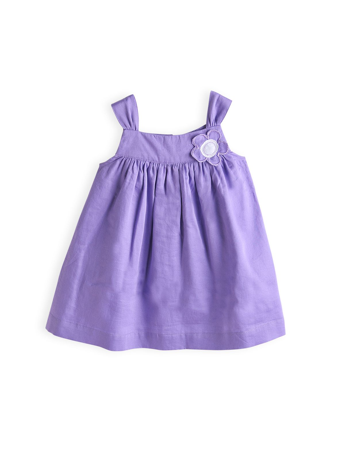 Girls daisy trim dress