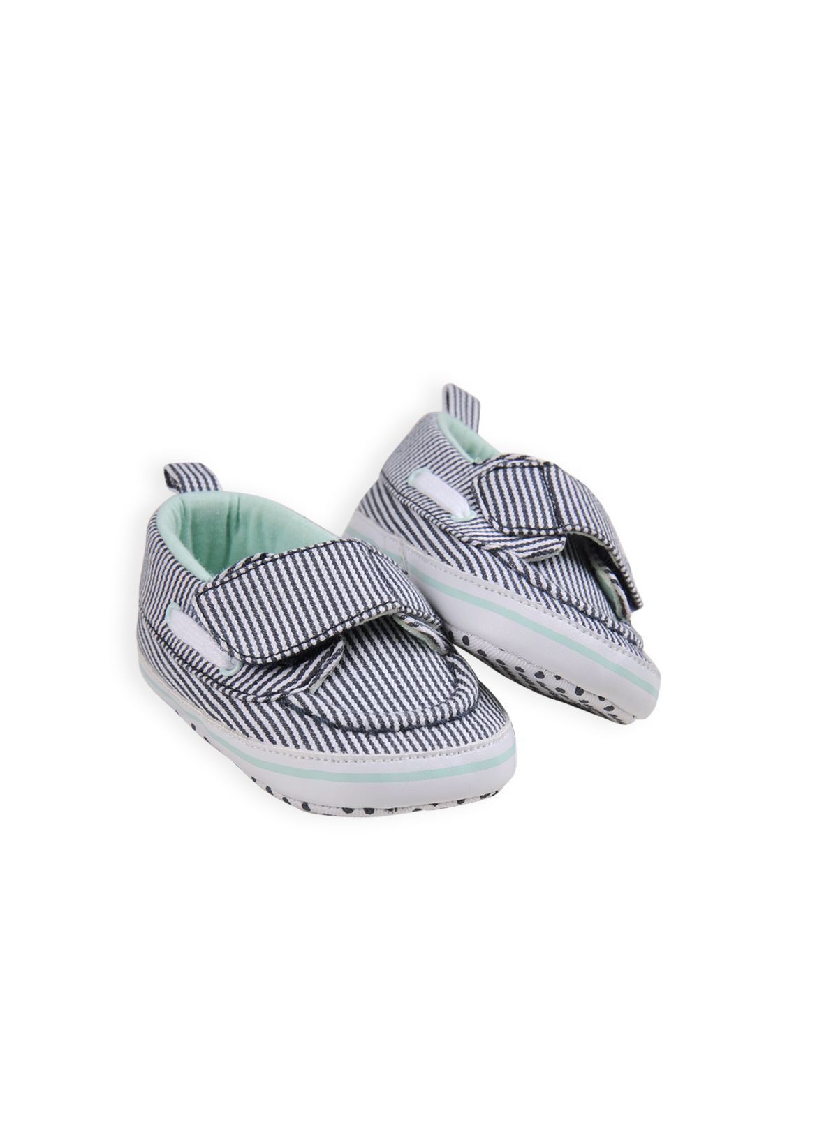 Baby boys denim stripe boat shoe