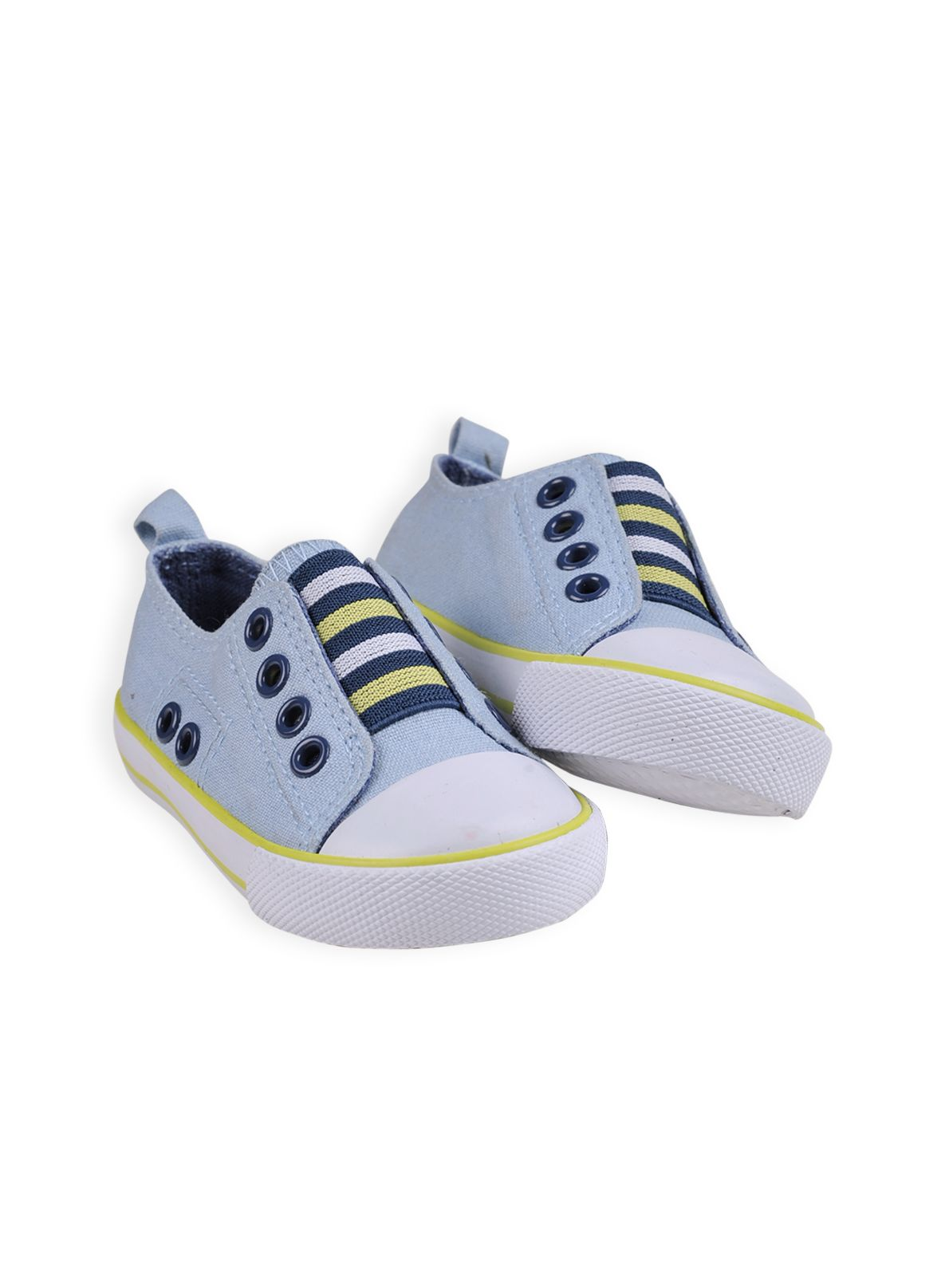 Boys contrast elasticated trainer