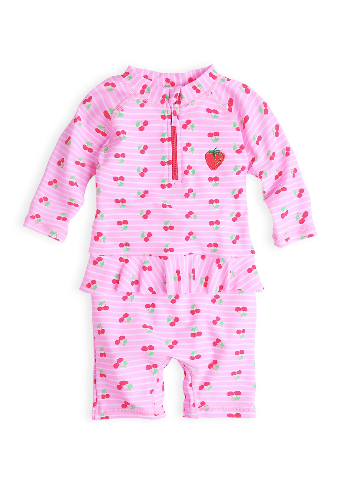 Baby girls cherry frilled sunsuit