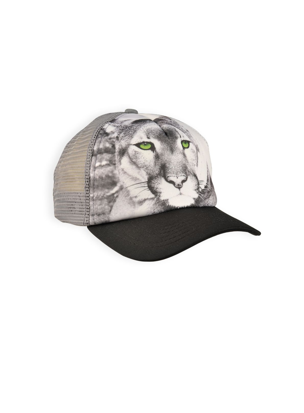 Boys jungle cat printed trucker hat