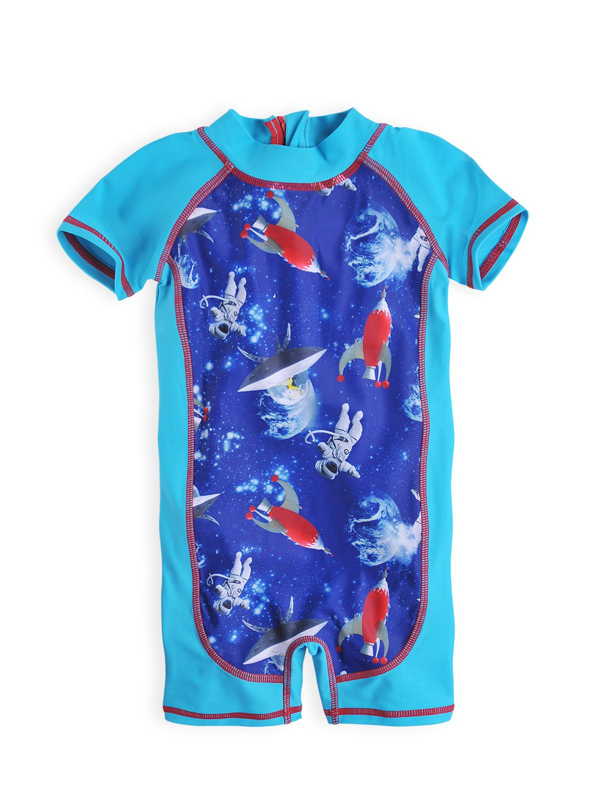 Baby boys rocket sunsuit