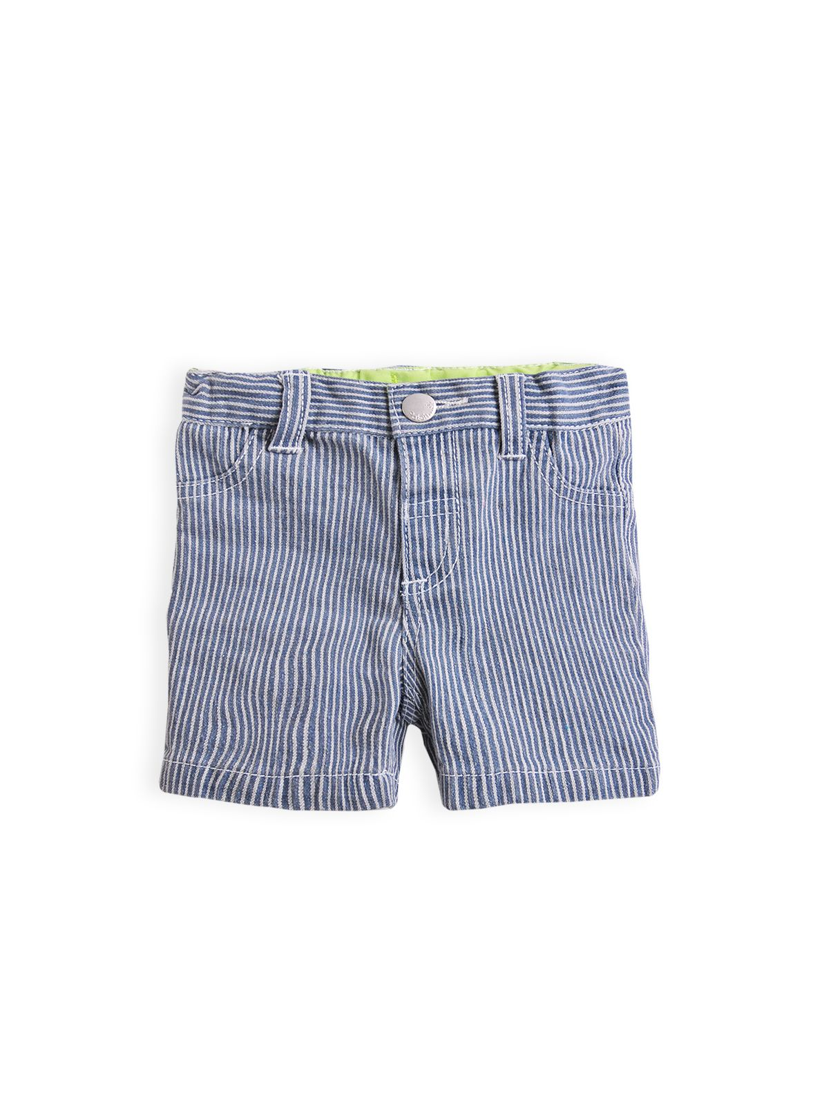 Boys stripe denim shorts