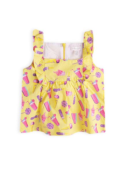 Girls Icecream print top