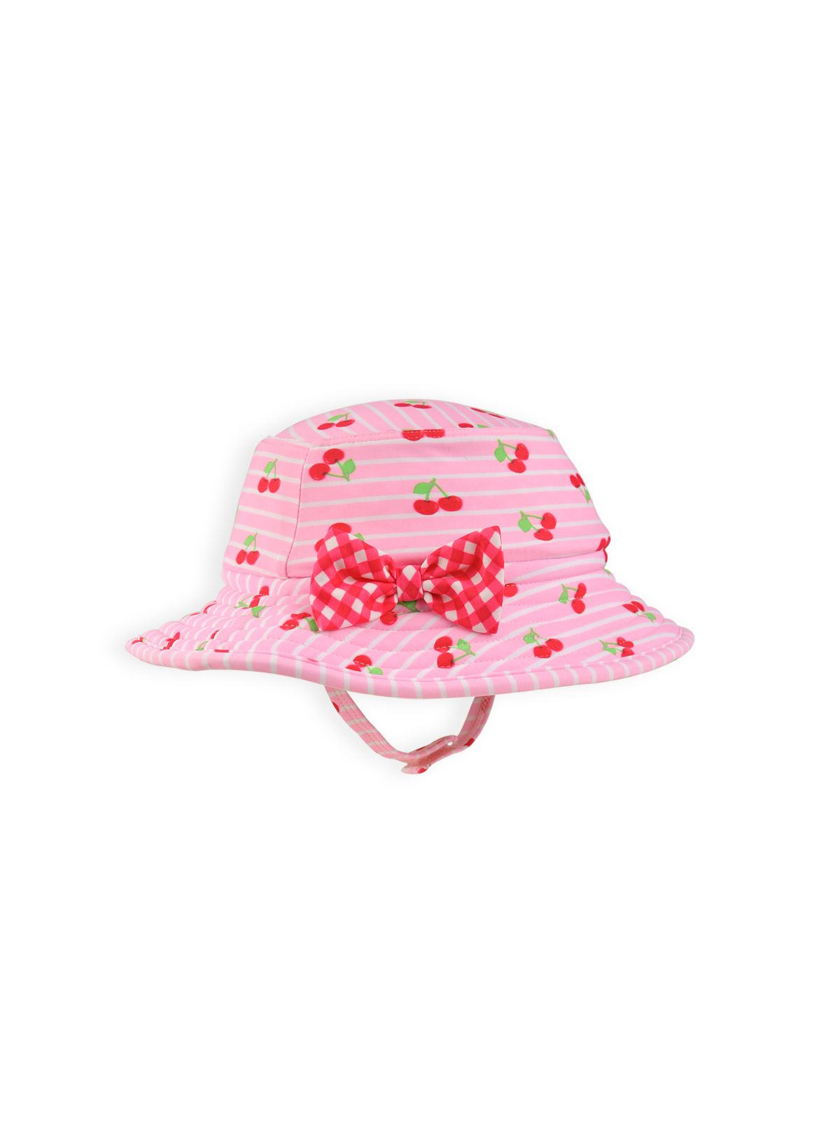 Baby girls reversible cherry hat