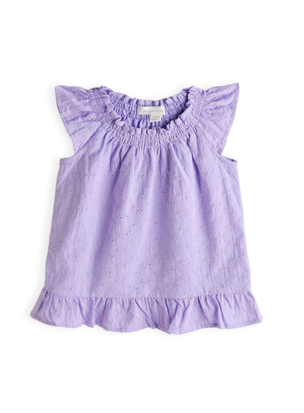 Girl`s broiderie swing top
