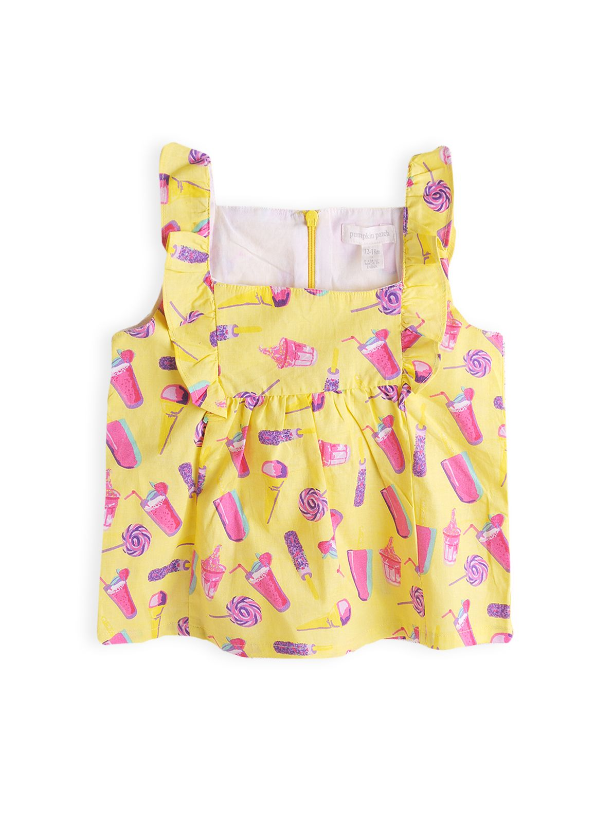 Girl`s icecream print top