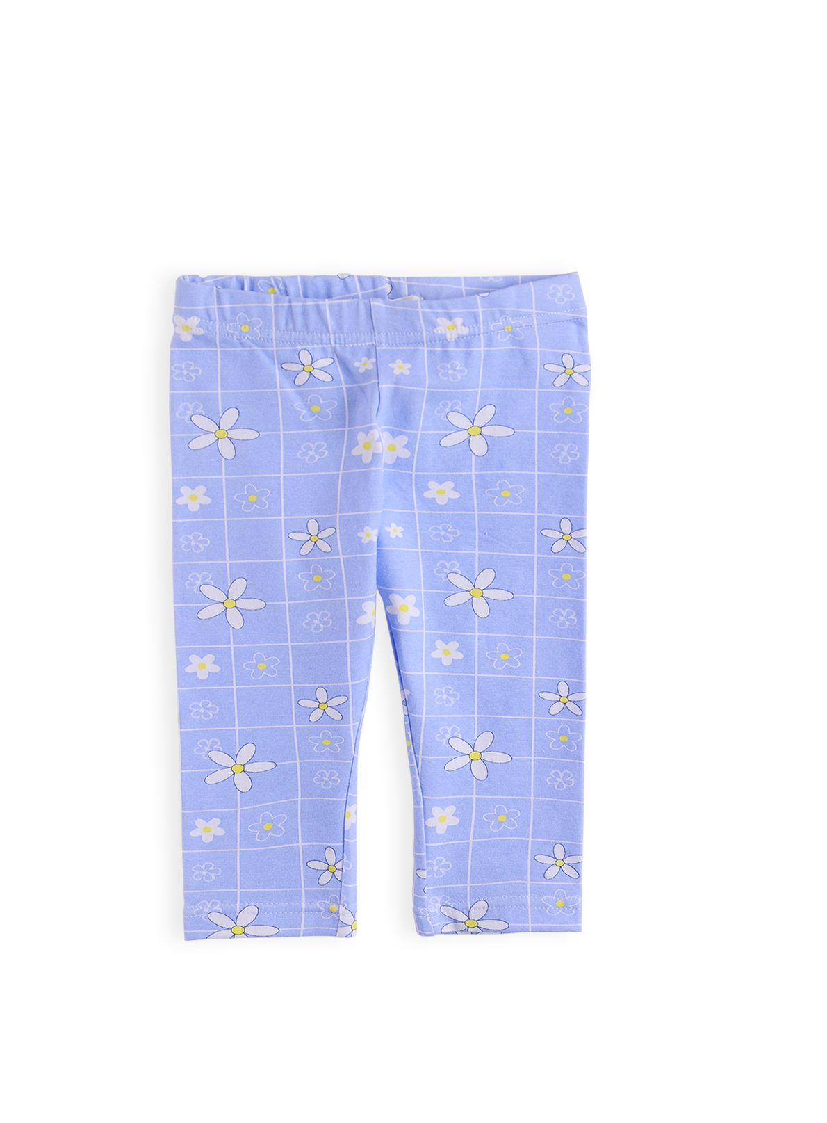 Girls geometric daisy print legging
