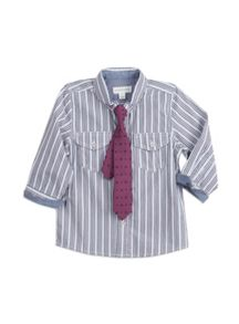 Boys w/s pp stripe shirt with tie