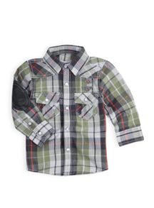 Boys check long sleeve shirt
