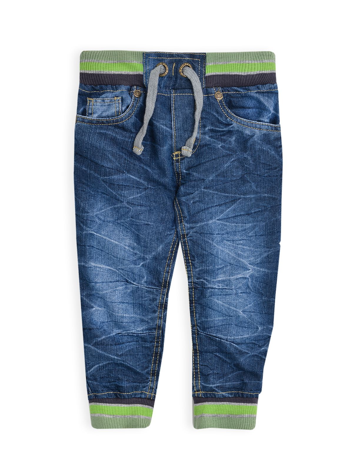 Boys rib waist & cuff denim jean