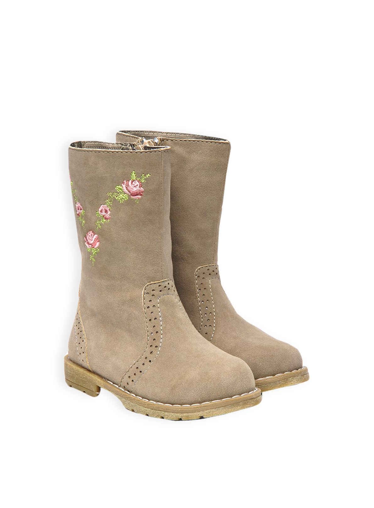 Girls embroidered blooms boot