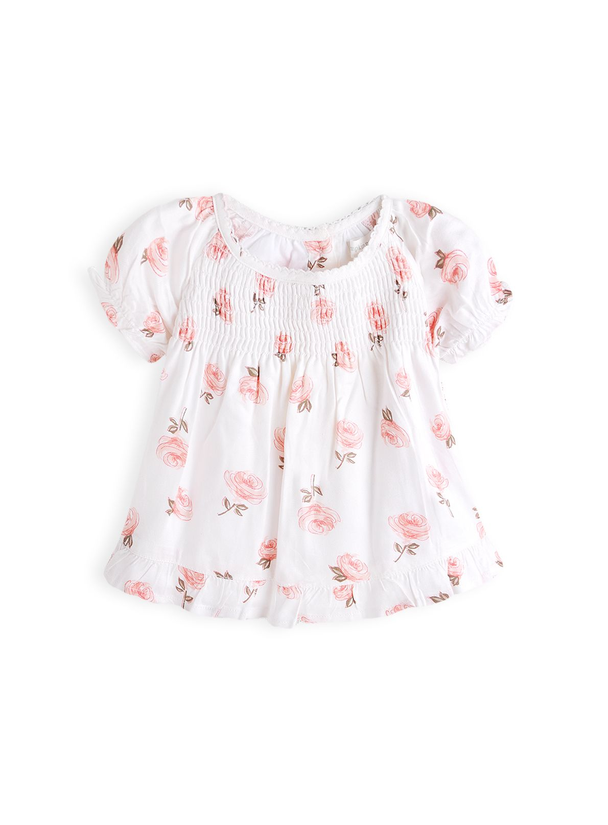 Girls rose print top