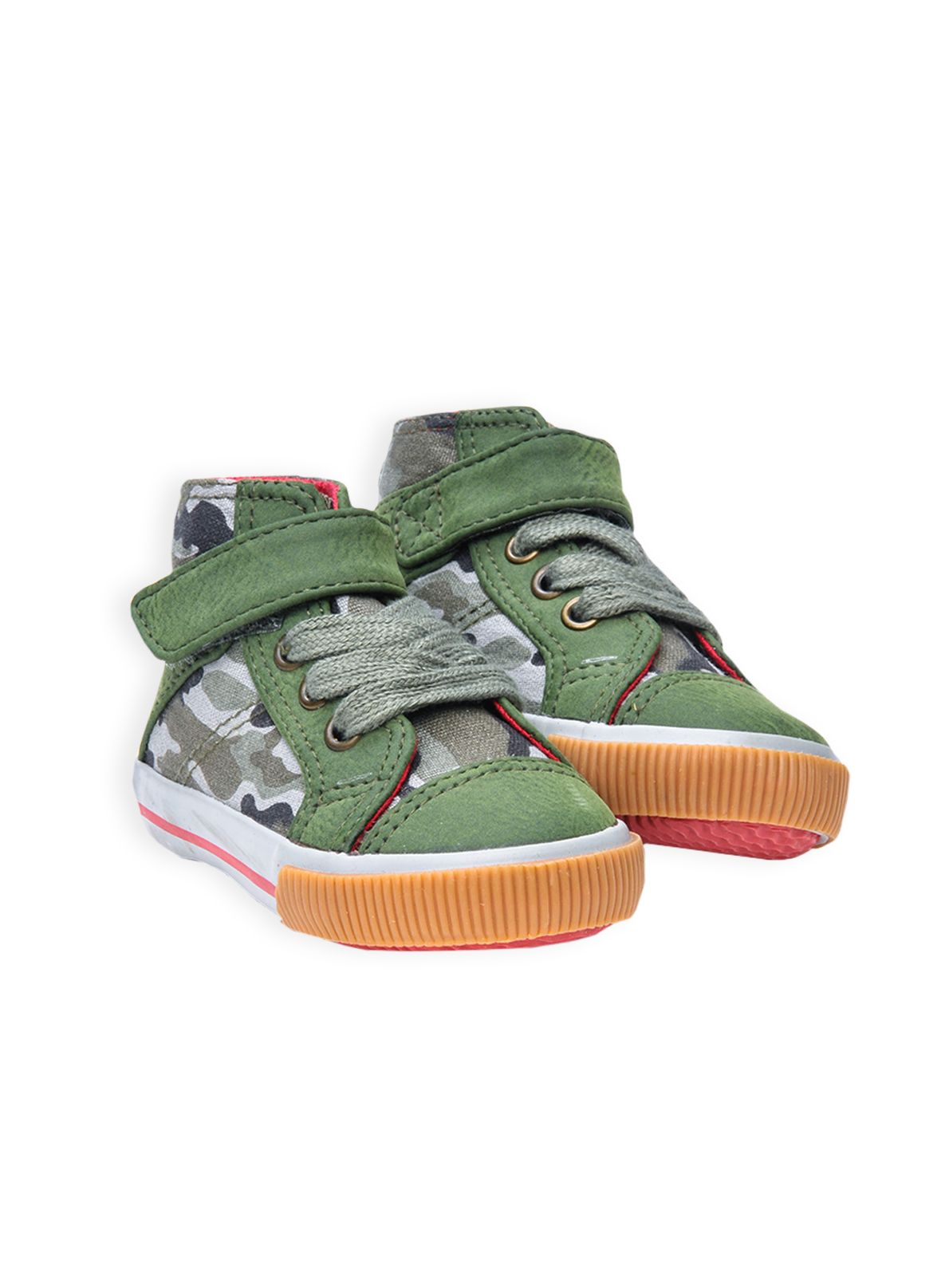 Boys army camo hi top