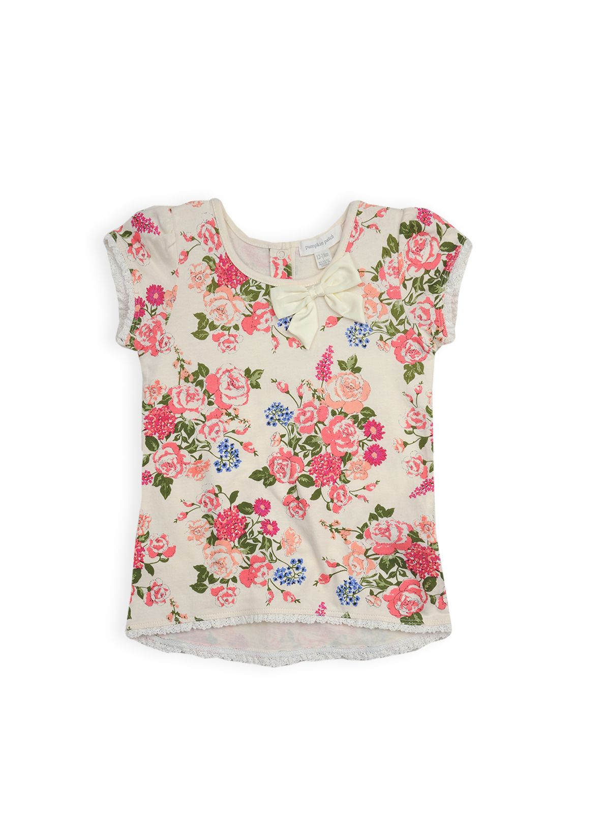 Girls vintage floral top