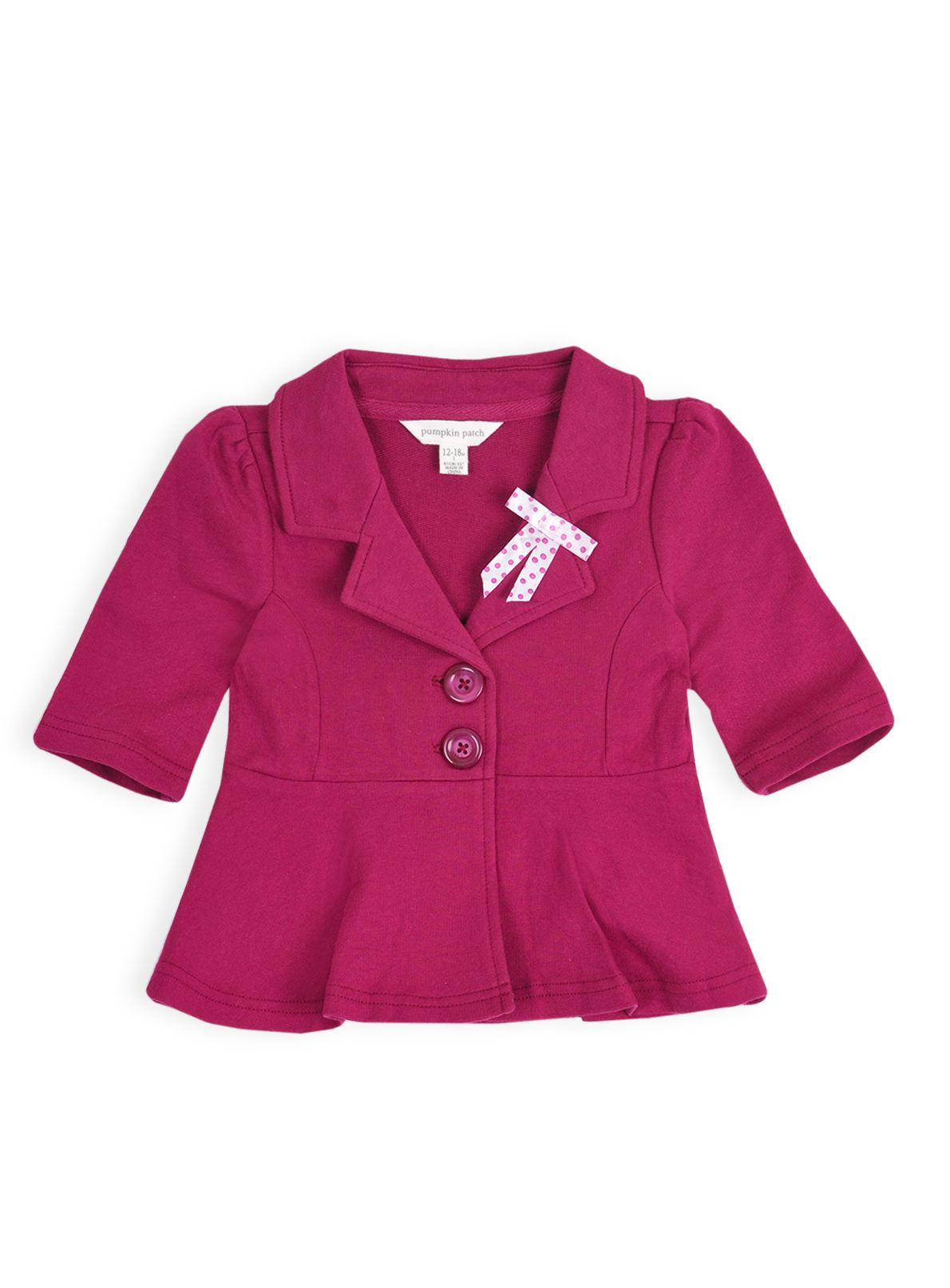 Girls peplum knit blazer