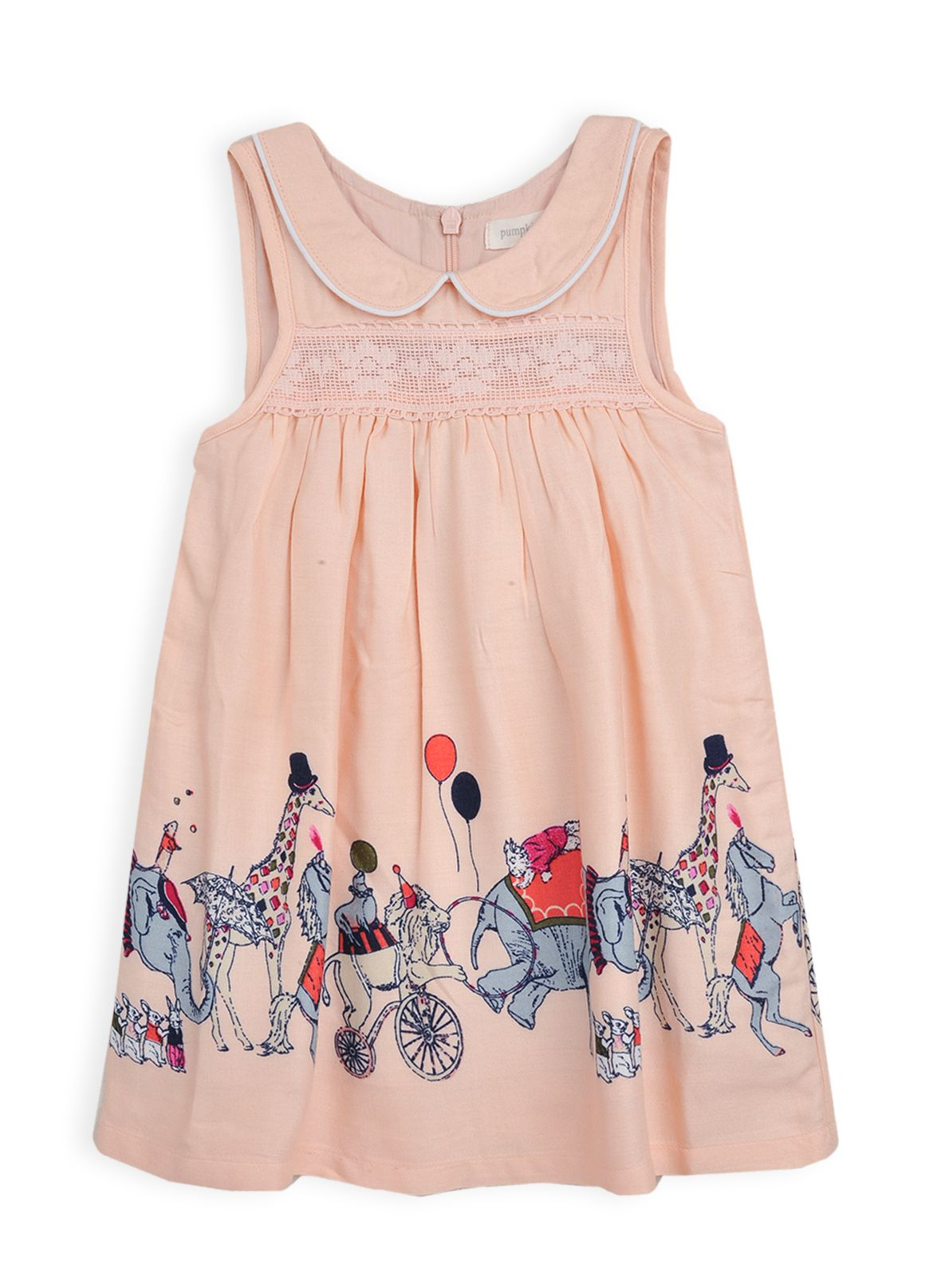 Girls circus border print dress