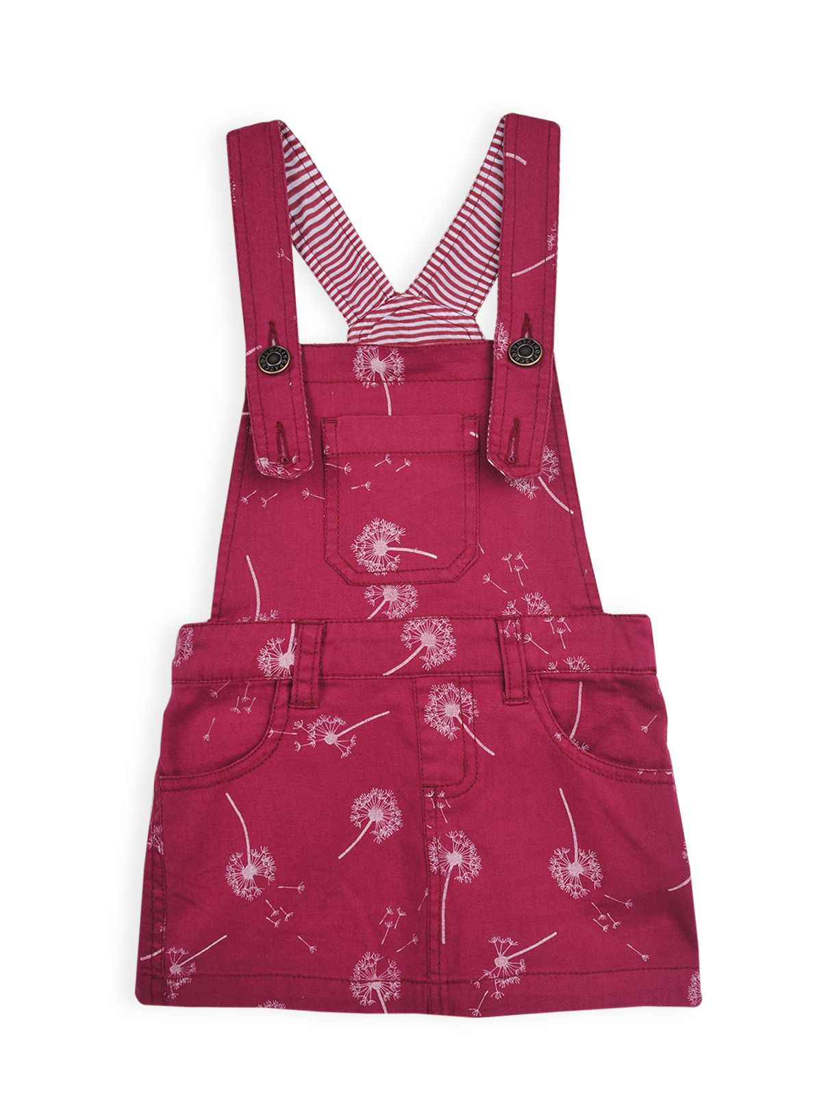 Girls dandelion seeds printed pinafore