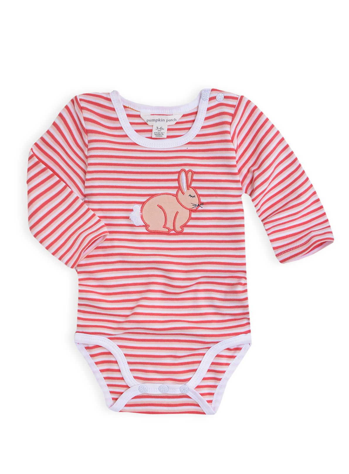 Girls bunny applique bodysuit