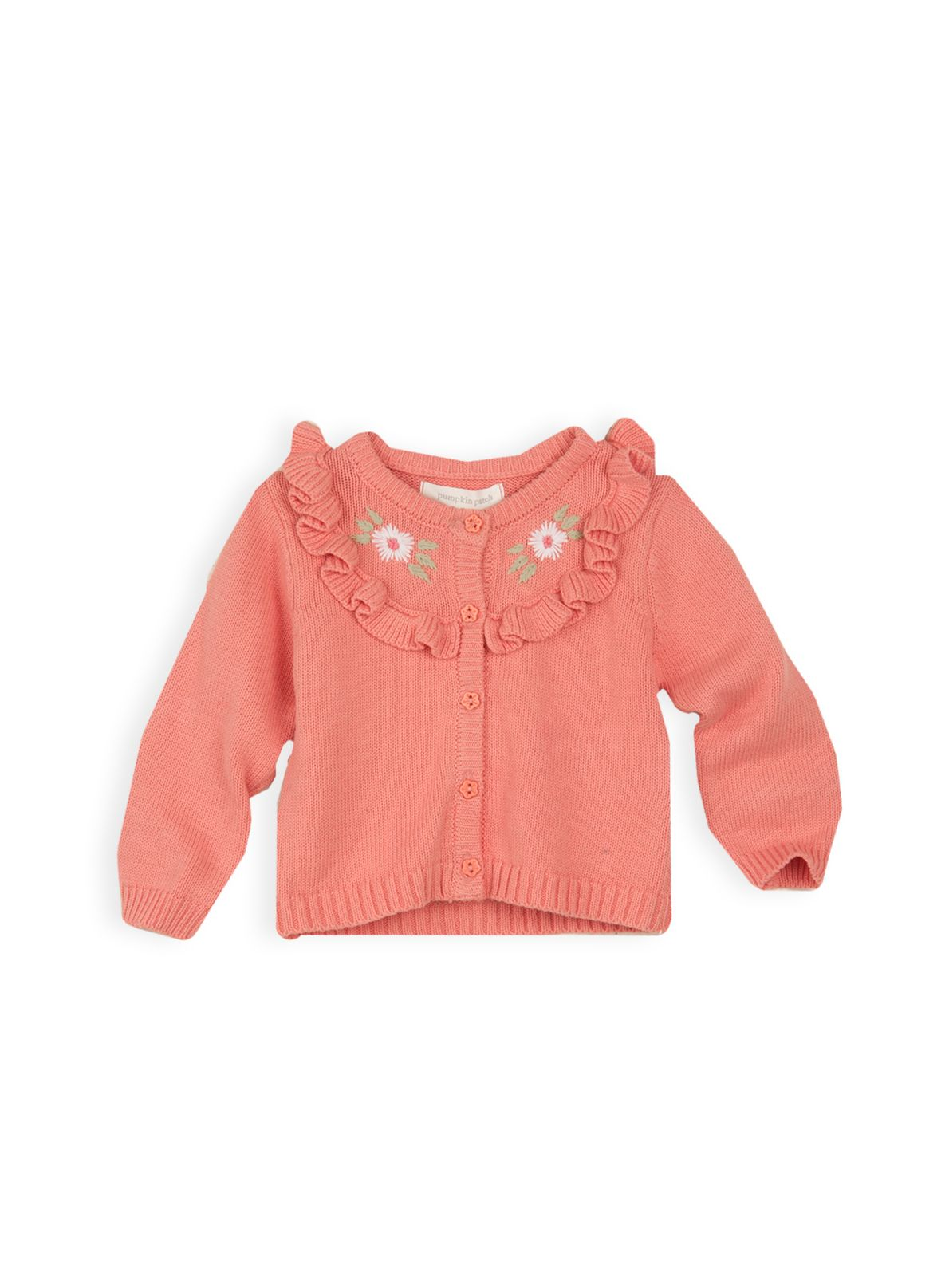 Girls yoked knit cardigan