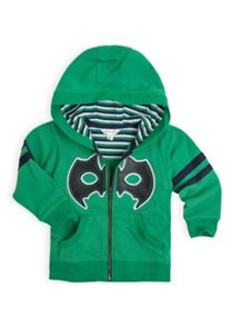 Boys bat mask hooded zip front sweat