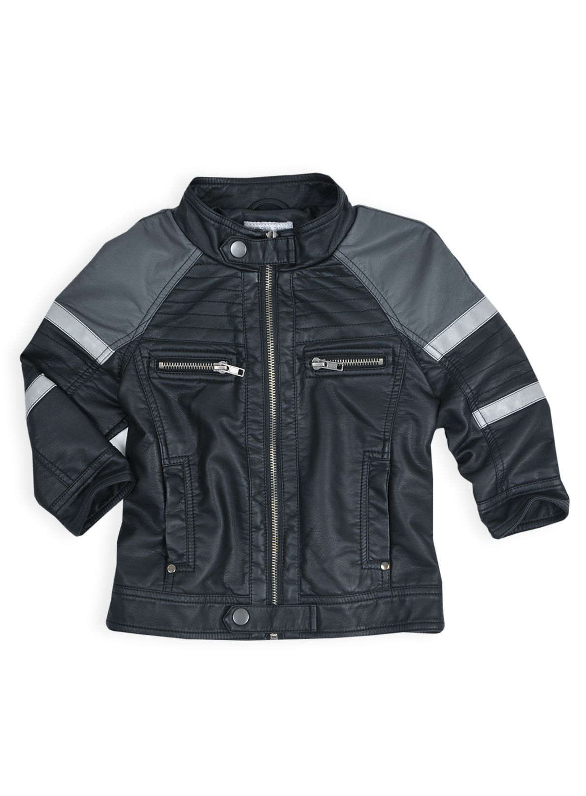 Boys mock leather biker jacket