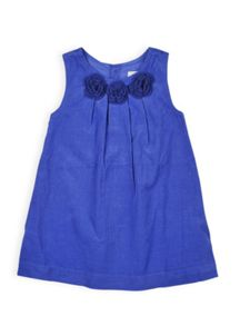 Girls crochet flower pincord dress