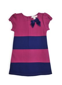 Girls ponti colour blocked dress