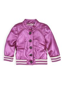 Girls quilted pu jacket