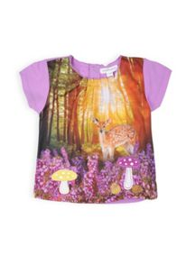 Girls bambi in forest top