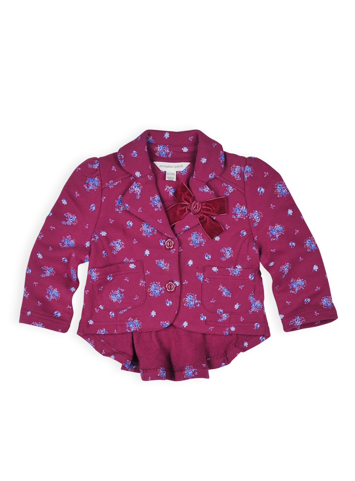 Girls floral blazer