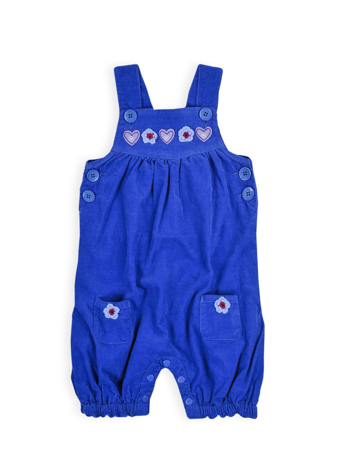 Girls soft wash cord dungarees