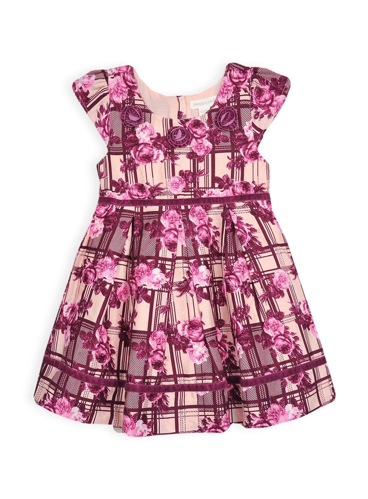 Girls rose print dress
