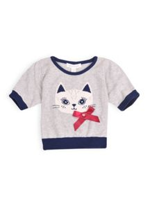 Girls knitted cat jumper