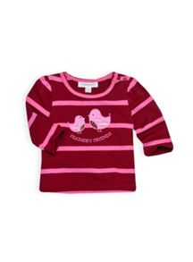 Baby girls robin applique top