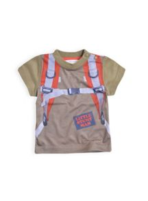 Boys photographic parachute tee with print on fro