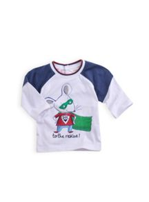 Boys super patch mouse tee