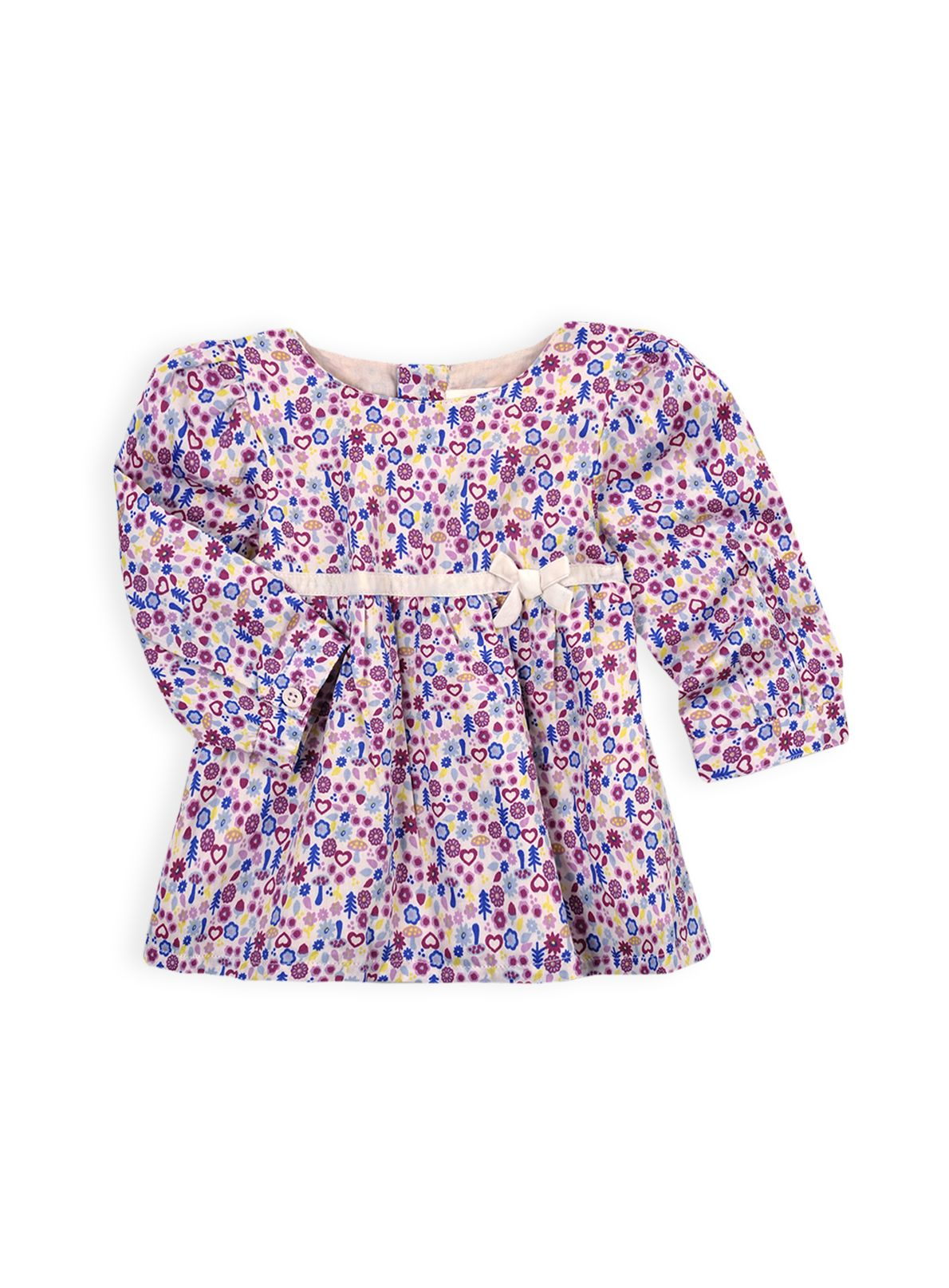Girls velvet bow top