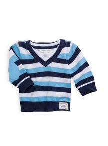 Boys v neck stripe jumper
