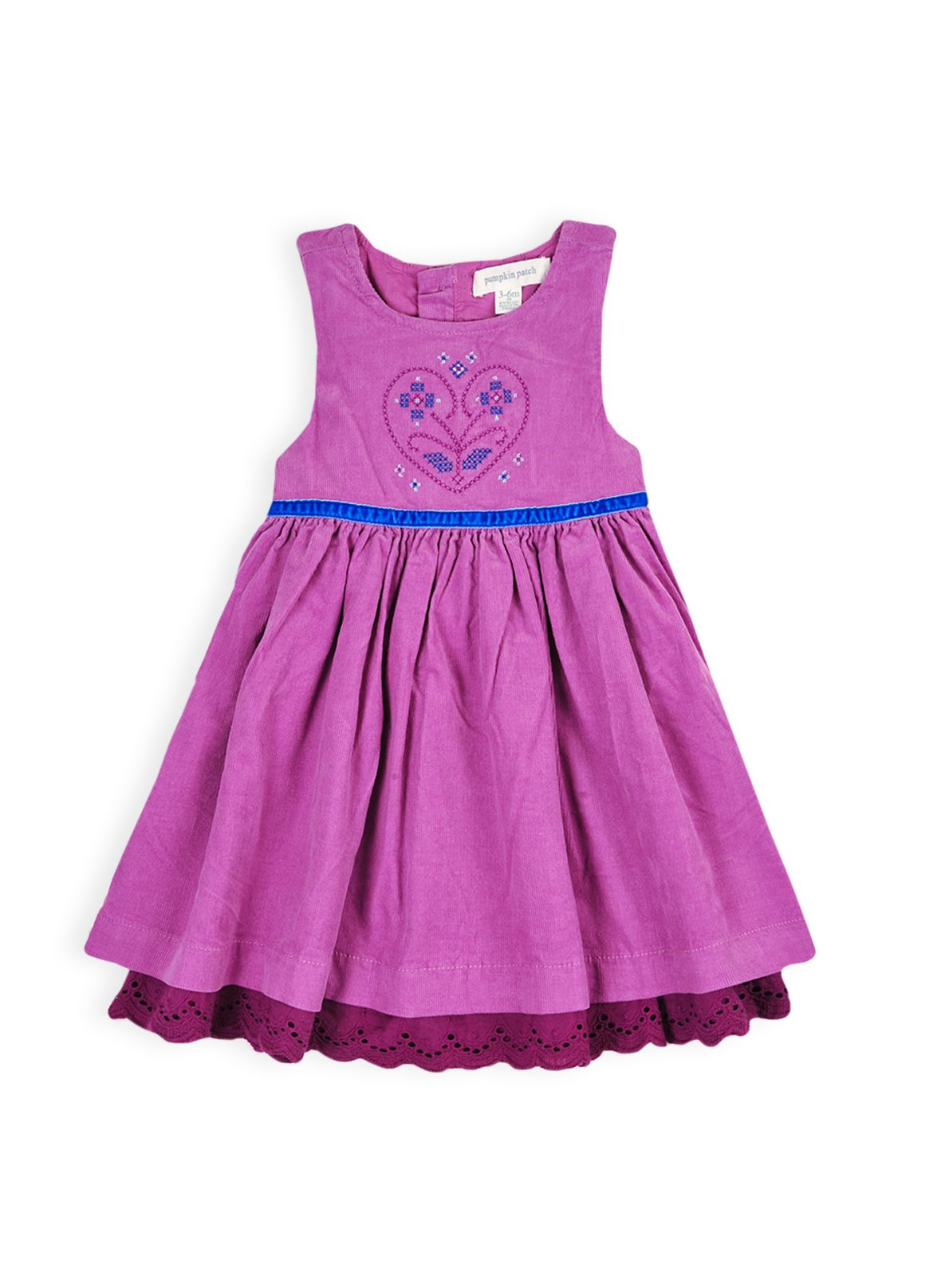 Girls baby cord pinnie with petticoat