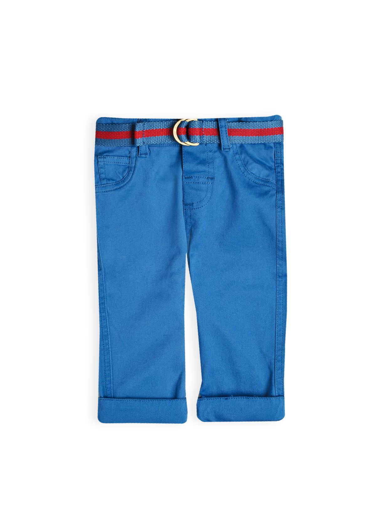 Boys washed twill turnup pant