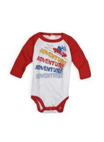 Baby boys raglan long sleeve bodysuit