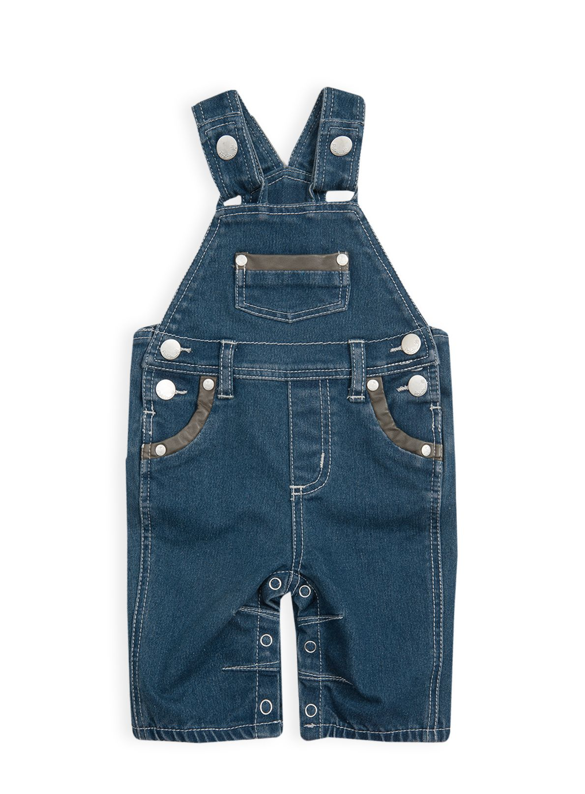 Baby boys cord trim dungarees